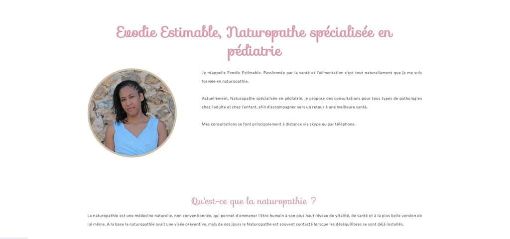 Evodie Estimable, naturopathe spécialisée en pédiatrie