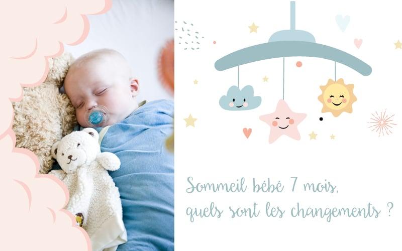 Sommeil bébé 7 mois, quels sont les changements